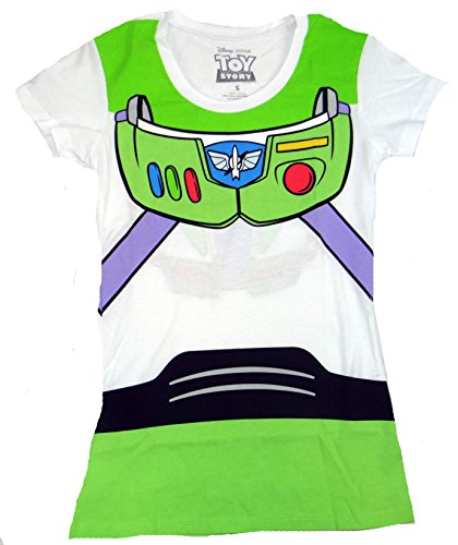 [Toy Story Buzz Lightyear Costume Juniors T-shirt (Large,White)] (Buzz Lightyear Shirt Costume)