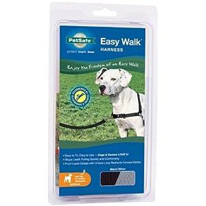 Premier Dog Nylon EASY WALK HARNESS Reduce Pulling Medium Black & Silver