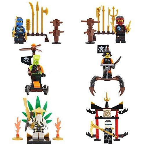 [6Pcs/Lot (NinjaFiguresHeroes MiniBlocksMinifigures With Sword) SuperHeroes DIY Building Blocks] (Epic Diy Halloween Costumes)
