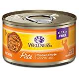 Wellness Natural Grain Free Wet Canned Cat Food, Chicken Pate, 3-Ounce Can (Pack of 24)