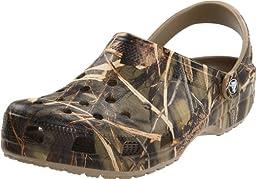 crocs Men\'s Classic Realtree Clog,Khaki,7 M US