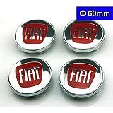 4pcs W176 60mm Car Styling Accessories Emblem Badge Sticker Wheel Hub Caps Centre Cover FIAT Bravo Viaggio Linea Sedici Siena 124 125 500 695 OT2000