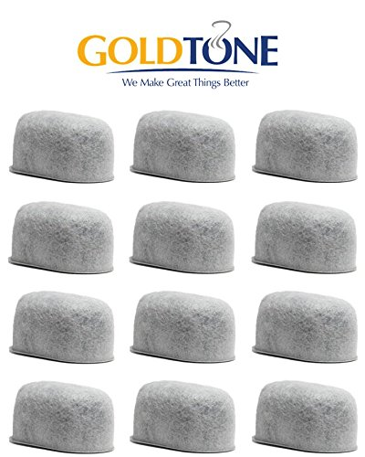 GoldTone (TM) Replacement Charcoal Water Filter Cartridges for Keurig Classic and 2.0 Coffee Maker Machines - 12 Pack (Keurig Water Filter Cartridges compare prices)