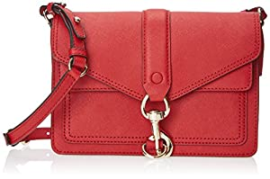 Rebecca Minkoff Hudson Moto Mini Cross-Body Handbag,Crimson,One Size