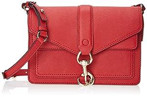 Rebecca Minkoff Hudson Moto Mini Cross-Body Handbag,Crimson,One Size