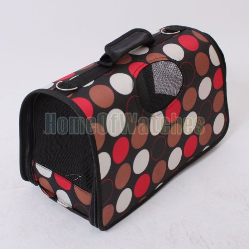 Polka dot Pet Dog Cat Travel Carrier PORTABLE Pet Carrier Bag Luggage Size S,M,L