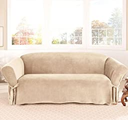 Legacy Decor 1 PC Soft Micro Suede Furniture Slipcover for Sofa. Beige Color