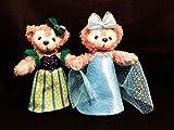 ダッフィー 衣装★アナと雪の女王~エルサ、アナ衣装風 型紙★ぬいぐるみバッジ用♪ だれでも簡単にできるよう、図解説明を多数取り入れた型紙です~とっても可愛い(D62)ぬいば、ワンピース
