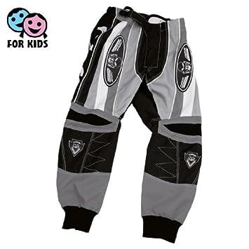 Roleff Racewear 8652 Pantalon Roleff Motocross pour Enfants, Noir/Gris, S/128