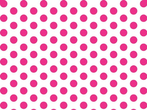"Hot Pink & White Polka Dot Tissue Paper - 20"" X 30"" - 48 Xl Sheets front-500557"