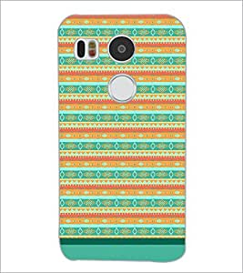PrintDhaba Tribal Pattern D-1733 Back Case Cover for LG NEXUS 5X (Multi-Coloured)