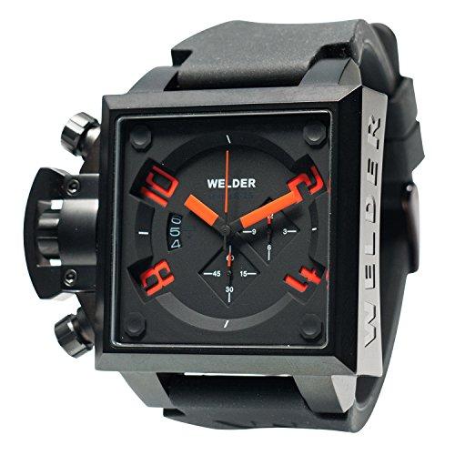 [ウェルダー]WELDER 腕時計 クオーツ クロノグラフ デイトカレンダー ブラック×ブラックラバー K25B-4701  【並行輸入品】