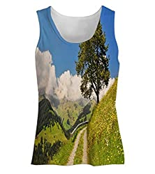 Snoogg Small Way In Garden Womens Tunic Casual Beach Fitness Vests Tank Tops Sleeveless T shirts