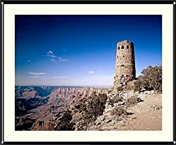 Grand Canyon Watchtower Photograph - Beautiful approx. 22x26-inch Framed & Matted Photographic Print by Carol M. Highsmith