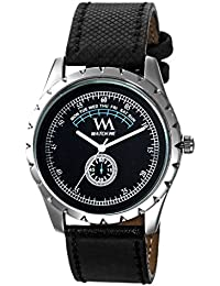 Watch Me Formal Black Watch With Black Leather Strap For Men And Boys -230-BKtwm
