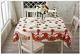 Sta.ANA(サンタ・アナ) クリスマス テーブルクロス 140cm x 180cm 華やか ヨーロピアンスタイル リボン ポインセチア