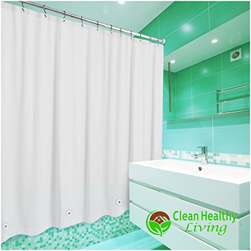 Premium Peva Shower Liner Curtain Odorless Mildew Resistant With Magnets Suction Cups