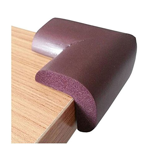 Coffee Brown Baby Safety Table Desk Corner Guard, 16 Corners, More Protection For Baby Playing