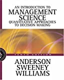 img - for Introduction to Management Science: A Quantitative Approach to Decision Making with CD-ROM book / textbook / text book
