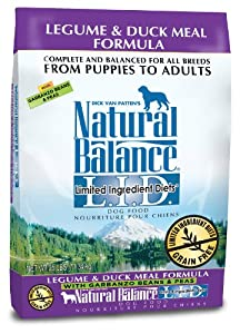 Dick Van Patten's Natural Balance L.I.D. Limited Ingredient Diets Legume and Duck Meal Dry Dog Formula, 25-Pound