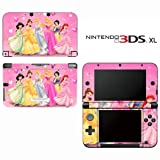 Princess Friends Decorative Video Game Decal Cover Skin Protector for Nintendo 3DS XL
