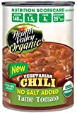 Health Valley Organic No Salt Added Chili, Tame Tomato, 15 Ounce (Pack of 12)