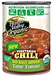 Health Valley Organic Chili Tame Tomato, Vegetarian, No Salt added, 15 Ounce Cans (Pack of 12)