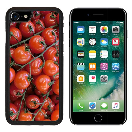 Luxlady Premium Apple iPhone 7 iPhone7 Aluminum Backplate Bumper Snap Case Cherries Fruit Pome Fruit Red Image 370909 (Pome Tomatoes compare prices)