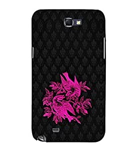 EPICCASE Beautiful neon birds Mobile Back Case Cover For Samsung Galaxy Note (Designer Case)