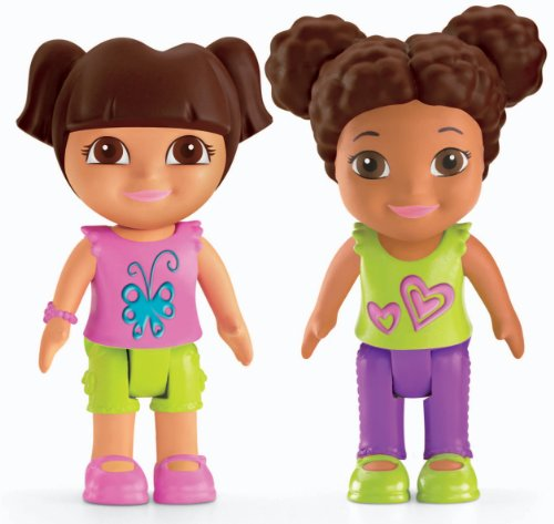 Fisher-Price Dora The Explorer Playtime Together Dora and Me Play Dates : Dora and Brown Hair Friend - 1