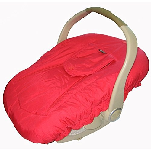 Jolly Jumper Arctic Sneak A Peek Infant Car Seat Cover Red - 1