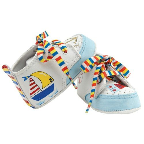 Ahoy Matey Baby Shoes in Gift Box by Lil Tootsie 0 - 6 Months