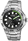 "Citizen Men's BN0090-52E  Eco-Drive ""Scuba Fin"" Stainless Steel Diver Watch"