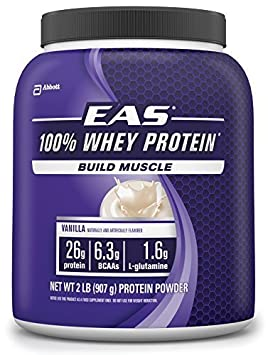 EAS 100% Whey Protein, Vanilla, 2-Pound, 23 Servings by EAS (English Manual)