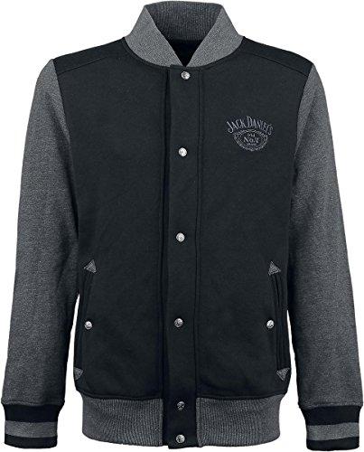 Jack Daniel's Old No. 7 Giacca college nero/grigio S