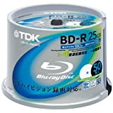 TDK Blu-ray Disc 50 Spindle - 25GB 4X BD-R - Printabledi TDK Media