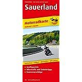 Motorradkarte Sauerland: Mit Tourenvorschlägen, Ausflugszielen, Einkehr- und Freizeittipps, wetterfest, reißfest, abwischbar, GPS-genau. 1:150000