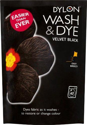 Dylon-Teinture-pour-tissu-lavable-Noir-velours-350-g-Sachet-de-teinture
