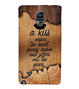 A Kiss Makes The Heart Young 3D Hard Polycarbonate Designer Back Case Cover for Samsung Galaxy Note 4 N910 :: Samsung Galaxy Note 4 Duos N9100