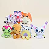 Digimon Plush Palmon Agumon Patamon Tailmon Gabumon Gomamon 7pcs Doll Stuffed Animals Figure Soft Anime Collection Toy (Color: As picture)