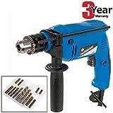 Silverline 500W Electric Hammer Drill Masonry Impact Driver plus Voche® 99 Piece Bit Set