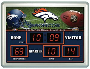 Denver Broncos NFL 14 X 19 Scoreboard Clock by Unknown