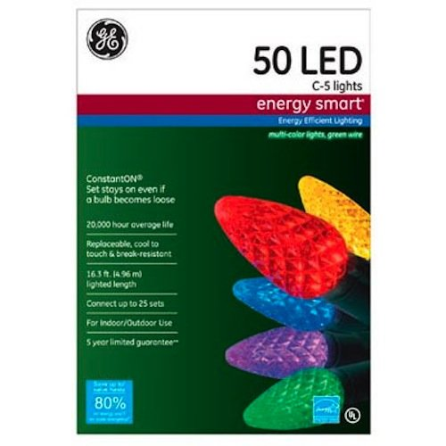 NICOLAS HOLIDAY GE97505 Multi LED C5 LED Set (Energy C5 compare prices)