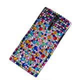 MOONCASE Colour Style Bling Rhinestone Crystal Devise Hard Back Case Cover for Sony Xperia S Arc HD Lt26i