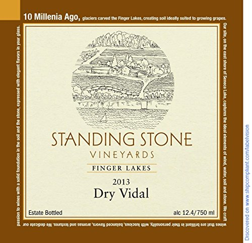 2013 Standing Stone Vineyards Finger Lakes Dry Vidal 750 Ml