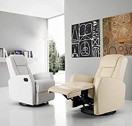 Poltrona Consuelo relax recliner manuale - Beige
