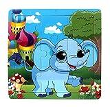 Ularma Lindo Juguetes de madera de los cabritos Jigsaw para la educaci�n de los ni�os y Puzzles juguetes de aprendizaje (multicolor4)