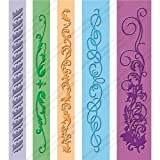 Cuttlebug Embossing Folder Border Set 5-Pack, Organic