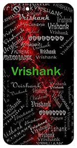 Vrishank (Lord Shiva) Name & Sign Printed All over customize & Personalized!! Protective back cover for your Smart Phone : Samsung Galaxy S4mini / i9190