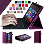 Fintie Folio Case for Microsoft Surface RT / Surface 2 10.6 inch Tablet Slim Fit with Stylus Holder (Does Not Fit Windows 8 Pro Version) - Purple